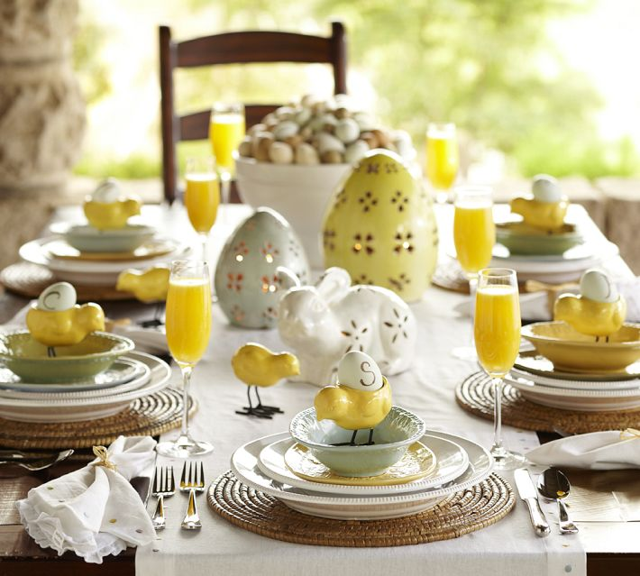 Decorating easter table ideas