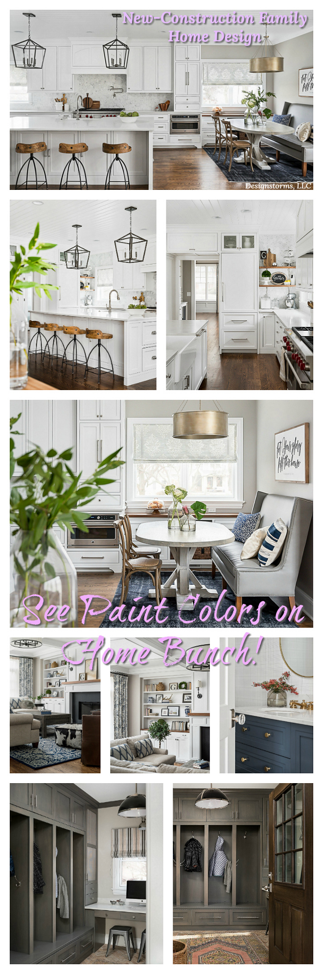 New-Construction Family Home Design Paint Colors on Home Bunch