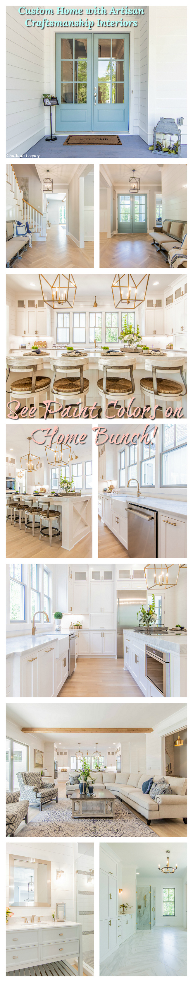 Custom Home with Artisan Craftsmanship Interiors paint colors and decor on Home Bunch