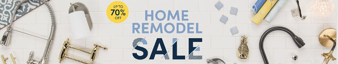 Home remodel sale