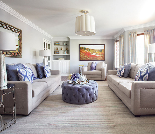 Living Room Design. Living Room Ideas. Living room with blue and white decor. #LivingRoom #LivingRoomIdeas #LivingRoomDesign #Blue/whiteDecor