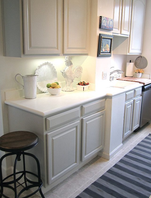 Apartment Kitchen Reno Ideas. Easy Kitchen Reno Ideas. Paint and Decor! #KitchenReno #EasyKitchenReno #AffordableKitchenReno Designed by Chez Vous Home Interiors.