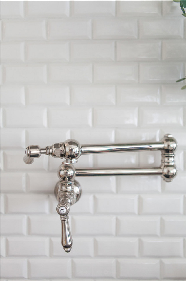 Backsplahs. Kitchen Backsplash Ideas. Beveled Subway Tile Backsplash.