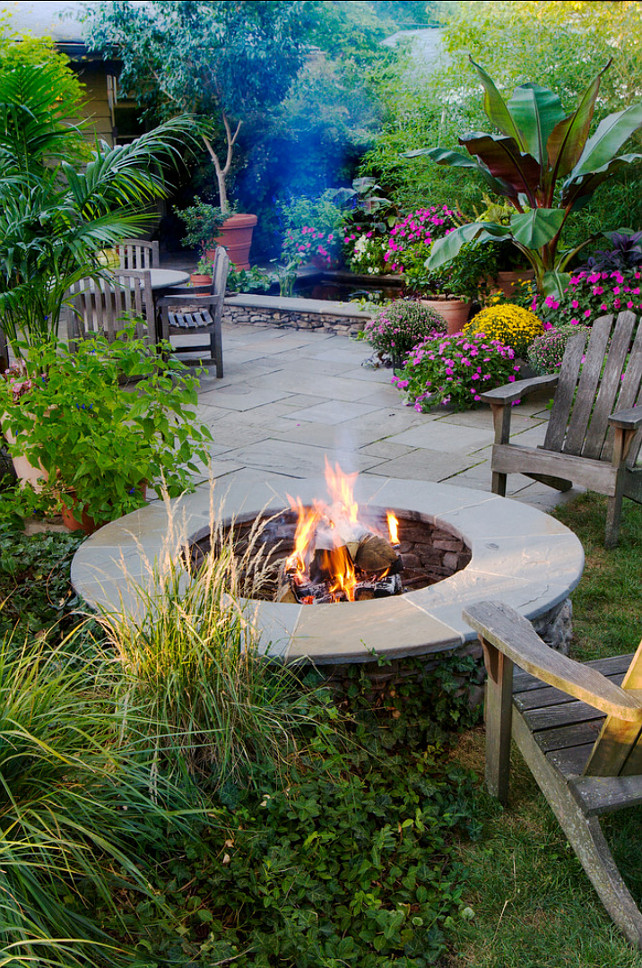 Backyard Ideas. Backyard with Fire Pit. Hursthouse Landscape Architects and Contractors.