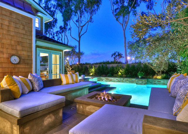 Backyard. This backyard is perfect for entertaining. #Backyard