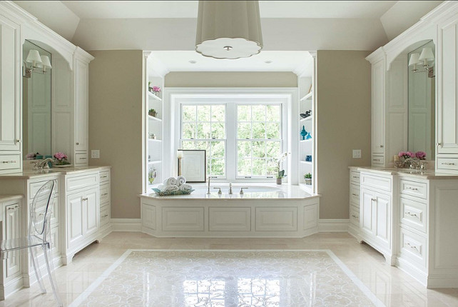 "Bathroom Design Ideas. The vanities in this bathroom are 7'-6"" in length. Dubinett Architects, llc."