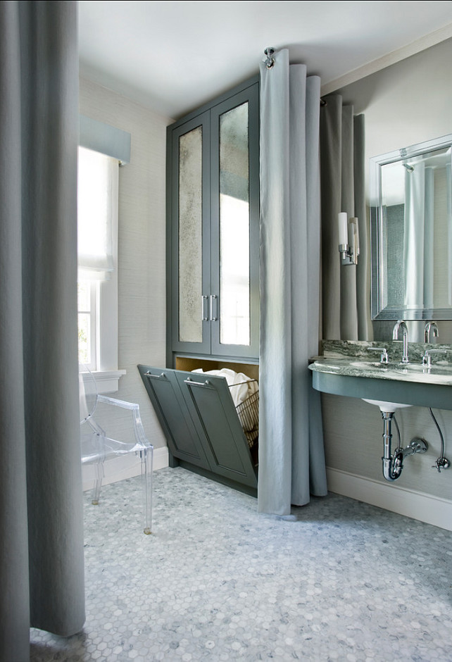 Bathroom Design Ideas. Bathroom Laundry Design Ideas. Bathroom Hamper. #Bathroom Mark WIlliams Design Associates.