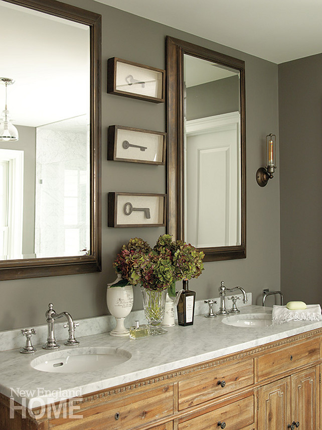 Bathroom Design. Transitional Bathroom Ideas. Anne-Laure Martyn. Cote Est Decor.