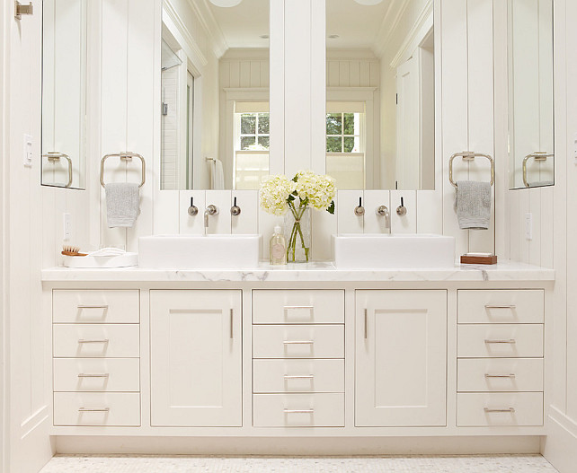 Bathroom Ideas. Bathroom with shiplap paneling. #Bathroom #BathroomIdeas #shiplap #ShiplapPaneling Rasmussen Construction.