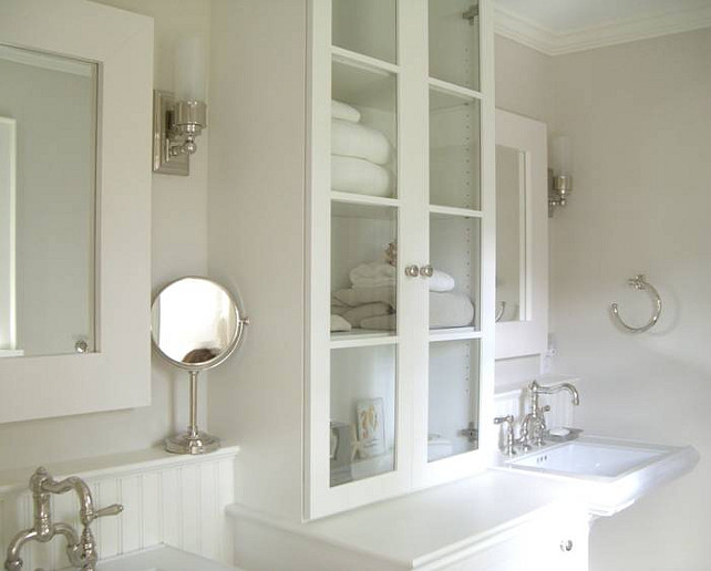 Bathroom Ideas. Classic Bathroom Design. Sconces are from Pottery Barn. #Bathroom #ClassicBathroomDesign