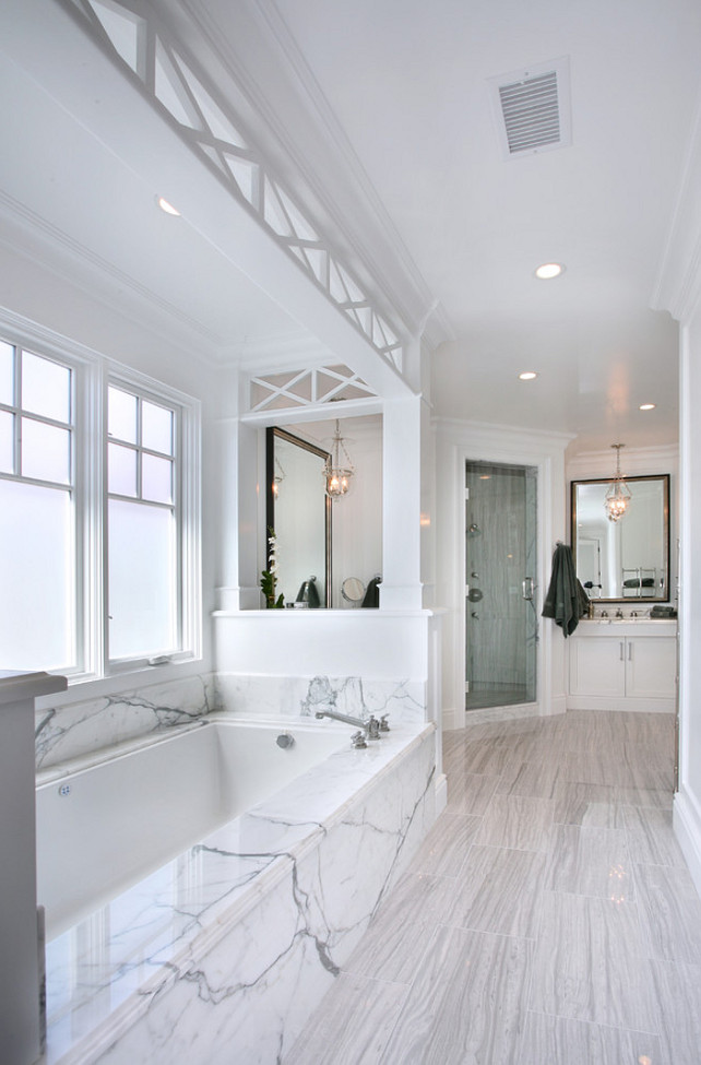 Bathroom Ideas. Marble bathroom design ideas. #Bathroom #MasterBathroom #Ensuite Fleming Distinctive Homes.