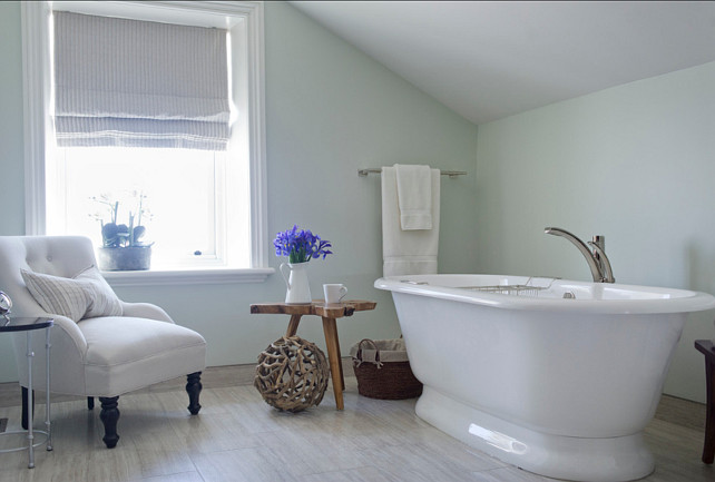 "Bathroom Paint Color. Bathroom Ideas. Paint Color: ""C2 Dorian Gray"". LemonTree & Co. Interiors."