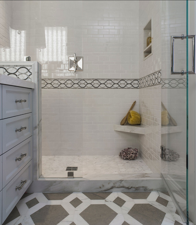 Bathroom Shower. Bathroom Shower Tiling Ideas. Angela Free Design.