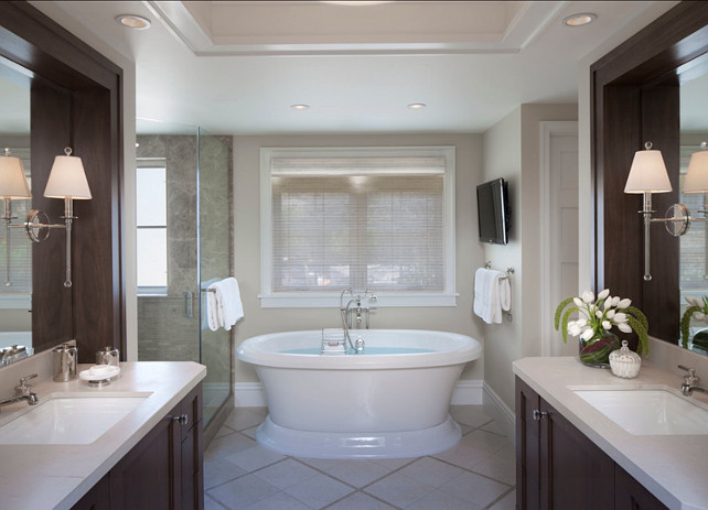 Bathroom. Bathroom Ideas. Classic bathroom design. #Bathroom #BathroomDesign #BathroomIdeas