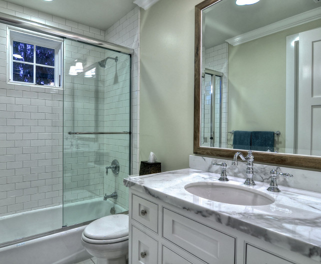 Bathroom. Great Design Ideas for Small Bathrooms. #SmallSpaces #SmallBathroomDesign