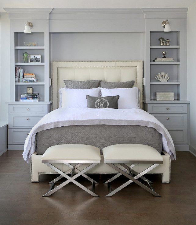 Bedroom Design. Bedroom Decor. The benches and the bed in this bedroom are from Ethan Allen. Bedroom. Normandy Remodeling.