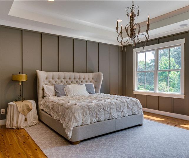 Bedroom. Bedroom Ideas. Bed is the Churchill Fabric Sleigh bed without footboard from Restoration Hardware. #Bedroom #Bed #BedroomDesign