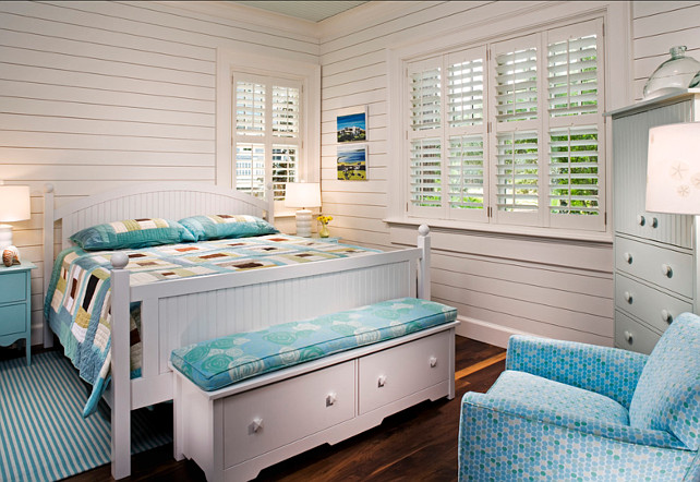 Bedroom. Bedroom Ideas. Coastal Bedroom with turquoise decor. #Bedroom