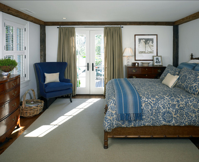 Bedroom. Traditional Bedroom with Blue and white decor. Classic Traditional Bedroom. #Bedroom #TraditionalInteriors