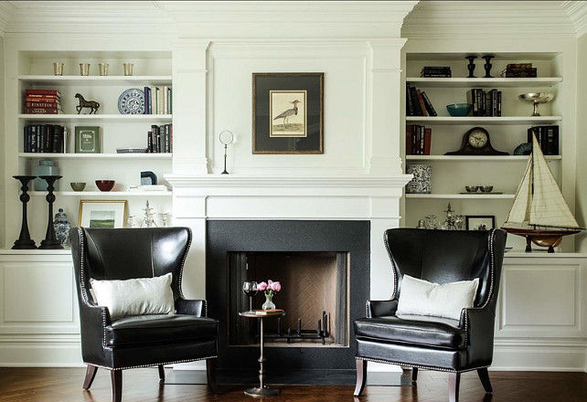 Black and White Interiors. Dubinett Architects, llc.