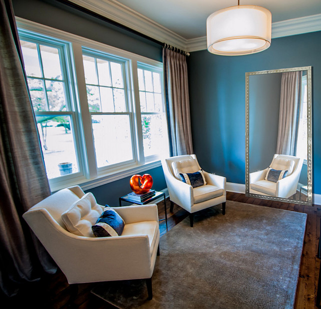 Blue Paint Color Ideas. Blue paint color for interiors. #BluePaintColor #BluePaint