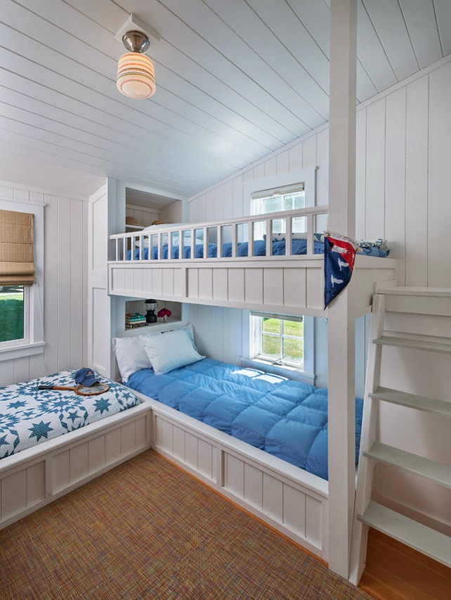Bunk Room Ideas. Bunk Room Design. Coastal Bunk Room Design Ideas. #BunkRoom #BunkRoomDesign #BunkRoomDesignIdeas #CoastalBunkRoom