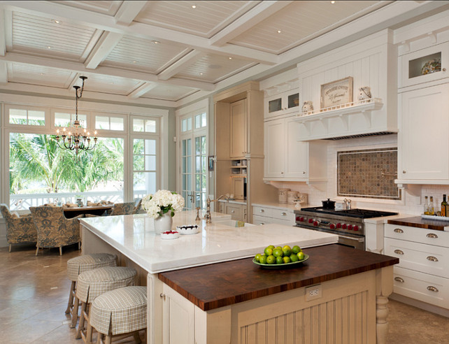 Busby Cabinets. Off-White Kitchen Ideas. Creamy, off-white kitchen cabinet paint color. Classic off-white kitchen.