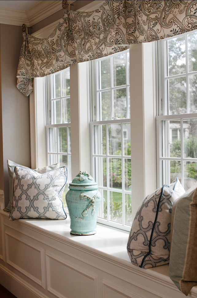 Window-seat Decorating Ideas. fabric Ideas. Casabella Home Furnishings & Interiors.
