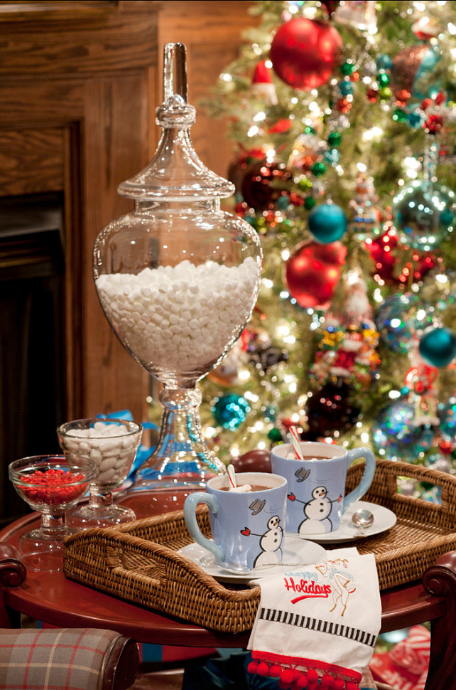 Christmas Hot Chocolate Ideas. #HotChocolate #Christmas Tobi Fairley Interior Design