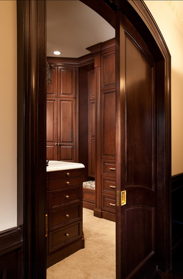 Closet Design. Closet Design Ideas. Dressing Room. #Closet #DressingRoom Busby Cabinets.