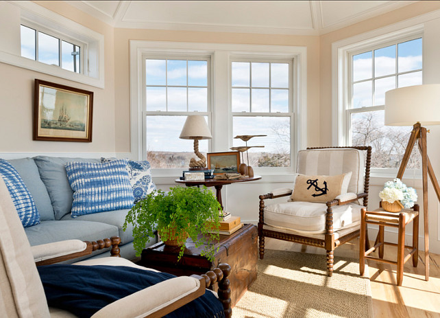 Coastal Interiors. Coastal Interior Ideas. Beautiful coastal interiors with timeless nautical decor. #Coastal #CoastalDecor #CoastalHomes CoastalIdeas