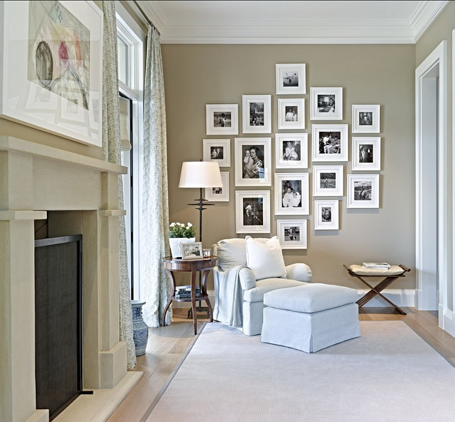 Picture Wall. Picture Wall Ideas. This picture wall makes for a nice personal touch in the house, but at the same time has some style of its own! #PictureWall #WallFrames #Pictures