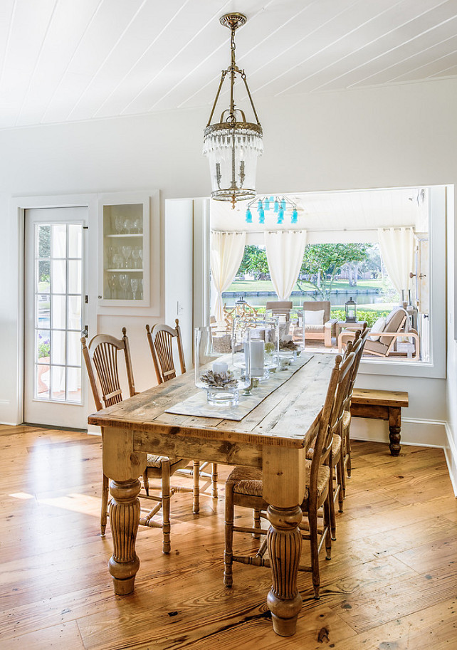 Dining Area. Casual Dining Area Ideas. #DiningArea  Beach Chic Design Interior Designers & Decorators.