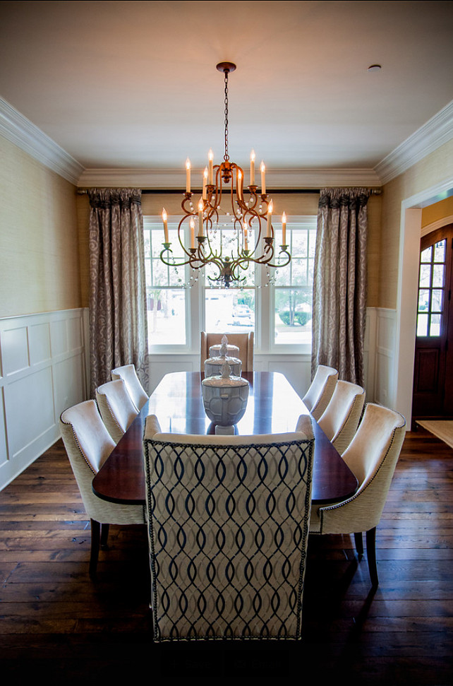 Dining Room. Dining Room Ideas. Dining Room Decor. The dining chairs are from Hickory Chair and fabric is from Kravet Couture. Chandelier is the Avignon Chandelier by Niermann Weeks. #DiningRoom #DiningRoomDecor #DiningRoomIdeas #DiningRoomFurnitureIdeas