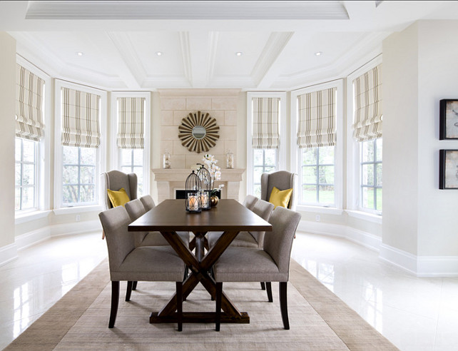 Dining Room. Casual Dining Room Design. Dining Room Ideas. #DiningRoom #DiningRoomIdeas #DiningRoomDesign Designed by Jane Lockhar.
