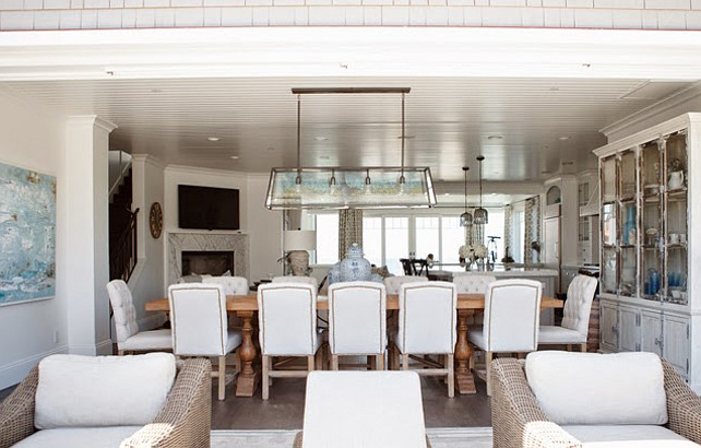 Dining Room. Coastal Dining Room Decor Ideas. #DiningRoom #Coastal