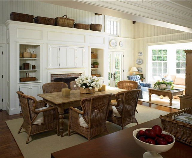 Dining Room. Coastal Dining Room. I am loving the casual, beach-y feel of this dining room. #DiningRoom