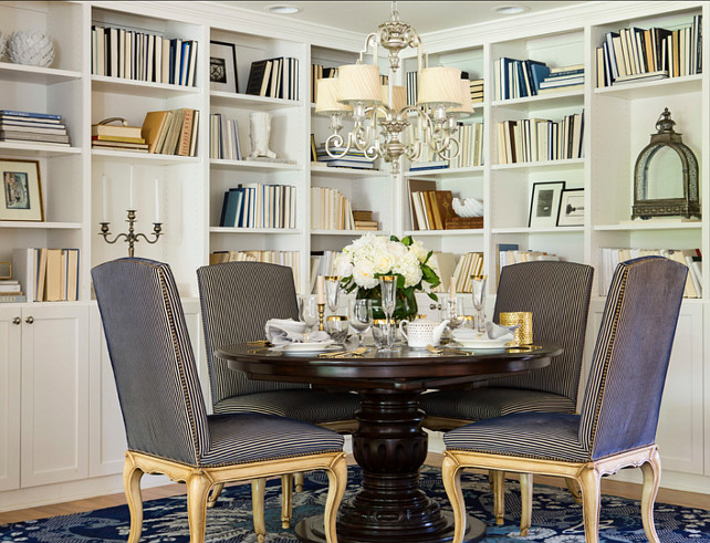 "Dining Room. ""Something's Gotta Give"" Inspired Dining Room. #DiningRoom #SomethingsGottaGive Designed by Martha O'Hara Interiors."