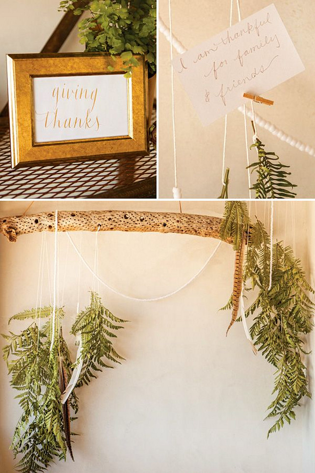 Easy Thanksgiving Decor Ideas.  Via Hostess with the Mostess.