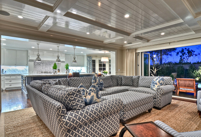 Family Room Furniture Ideas. Family room sofa ideas. Family Room sectional ideas. #Familyroom #FamilyroomFurniture Spinnaker Development.