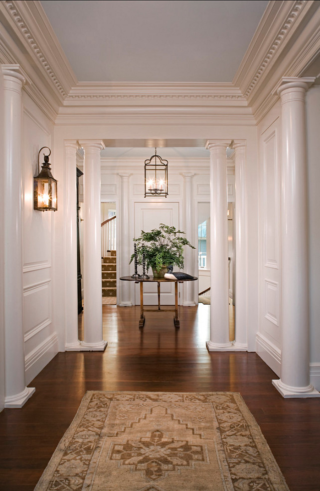 Foyer. Traditional Foyer Design. Beautiful traditional foyer. Sconces are from Charleston Lighting. #Foyer #Lightfixture #FoyerDesign #Entryway #TraditionalInteriors #EntryDesign