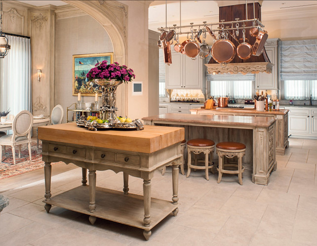French Kitchen. French Kitchen Design. Traditional French Kitchen. #FrenchKitchen #FrenchInteriors Via Sotheby's Homes.