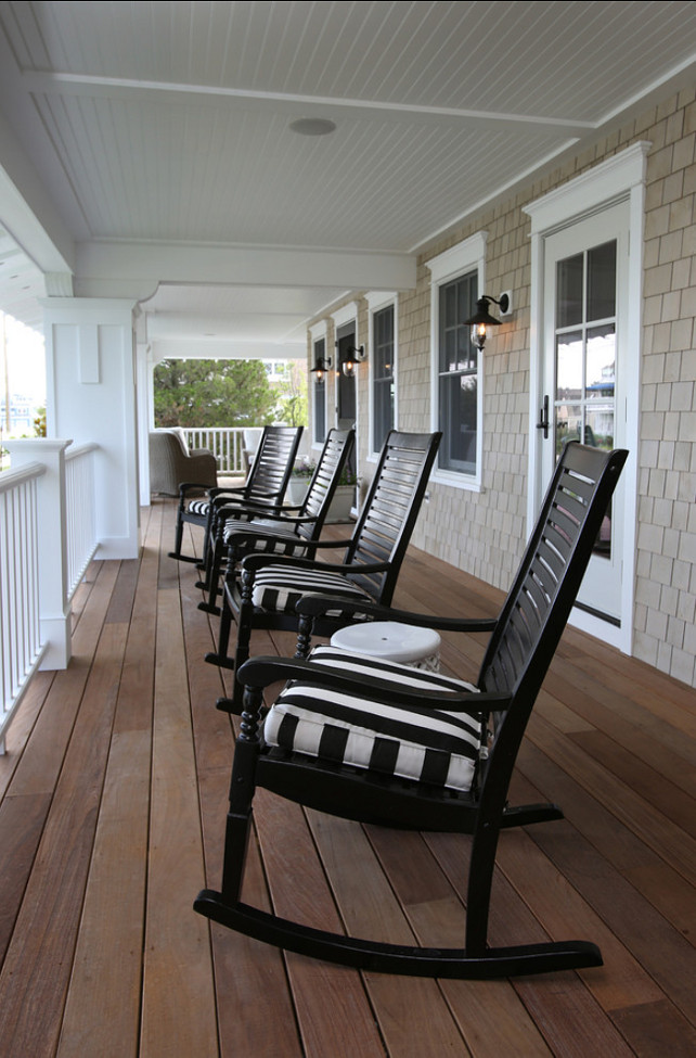 Front Porch. Front porch with rocking chairs. Great causal front porch. #Porch #FrontPorch #PorchIdeas