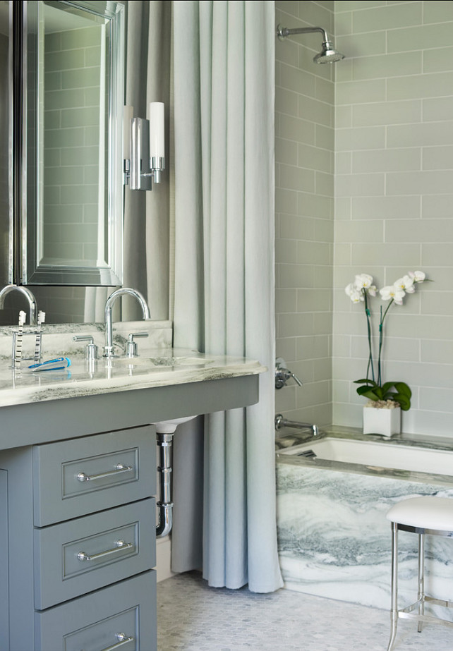 Gray Bathroom. Mark WIlliams Design Associates.