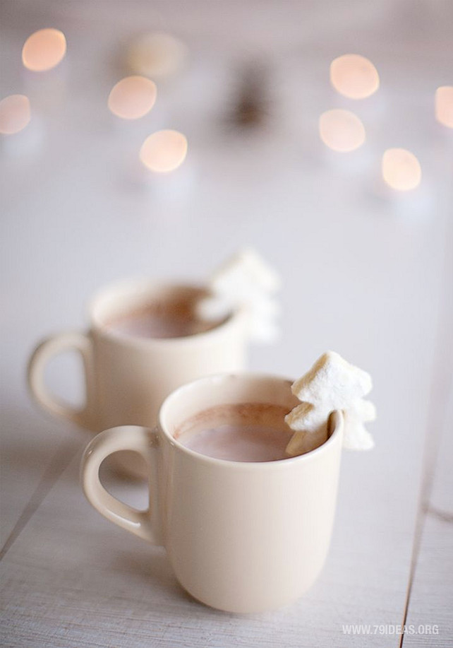 Hot Chococolate. Christmas Hot Chocolate. Via 79Ideas.Org