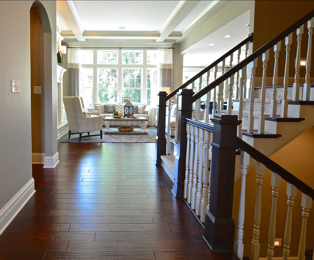 Lighting Basement Washroom Stairs: Beautiful Family Home With Open Floor Plan