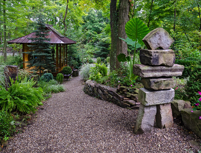Japanese Garden Ideas. Japanese Tea House. Miriam's River House Designs, LLC