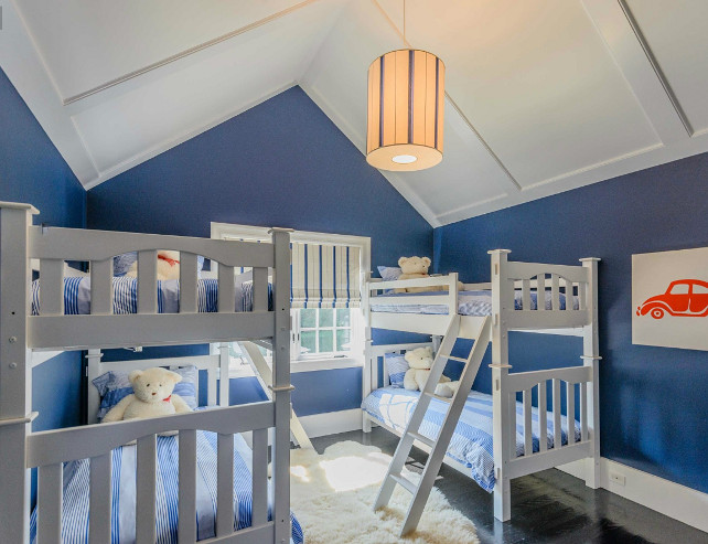 Kids Bedroom Ideas. Blue and white Kids Bedroom Design. #KidsBedroom #KidsBedroomIdeas