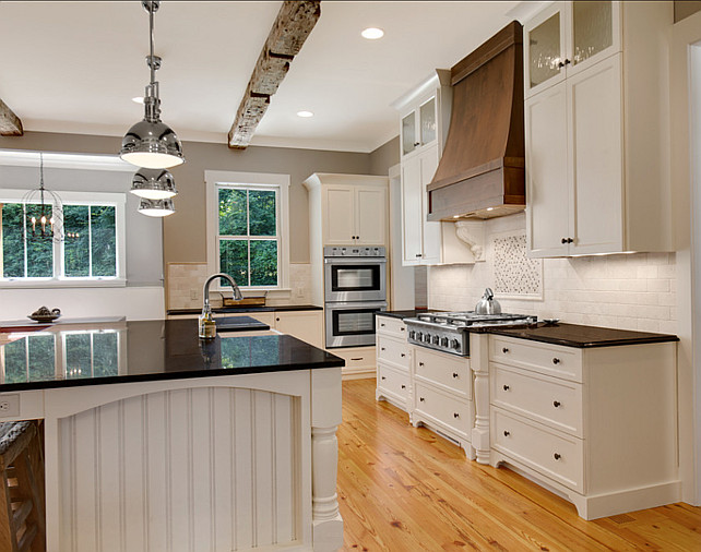 Kitchen Countertop Ideas. Kitchen Countertop. The countertops in this kitchen are Tropic Brown granite. #Countertop #Granite #BlackGranite #TropicBrownGranite.