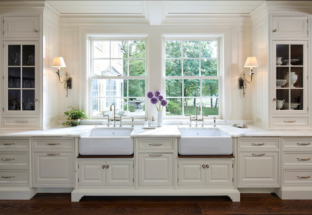 astounding white kitchen cabinets wood floors | Traditional Home with Classic White Kitchen - Home Bunch ...